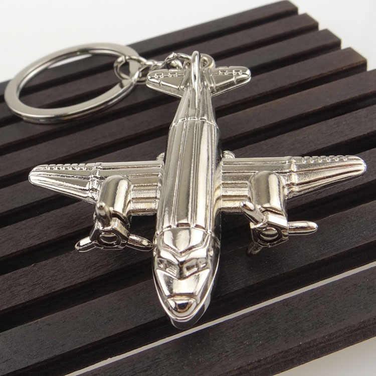 Skrzydła rolki model samolotu metalowy brelok zawieszka Air Force 1 reklama działalność promocyjna konfigurowalny prezent