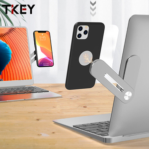 Tkey New Phone Holder Adjustable Computer Laptop Screen Side Phone Stand Mount Bracket Connect Tablet Support Holder For Iphone