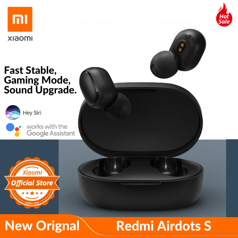NEW Xiaomi Redmi AirDots S Bluetooth 5.0 True Wireless Earphones Auto Connect Earphone With Mic Gaming Mode Voice Control
