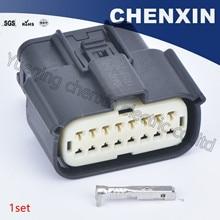 Schwarz 16 pin 1,5 weibliche wasserdichte auto anschlüsse auto verdrahtung elektrische kabelbaum kabel stecker 33472 1740