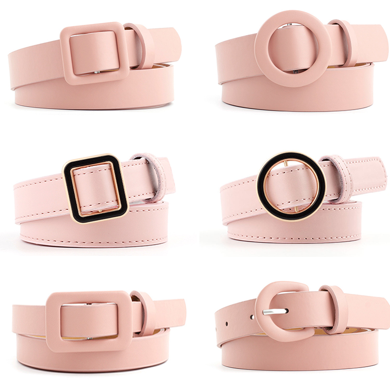 New Belts For Women Luxury Brand PU Leather Belts Casual High Quality Female Waist Belt Red Black Waistband Trousers Jeans
