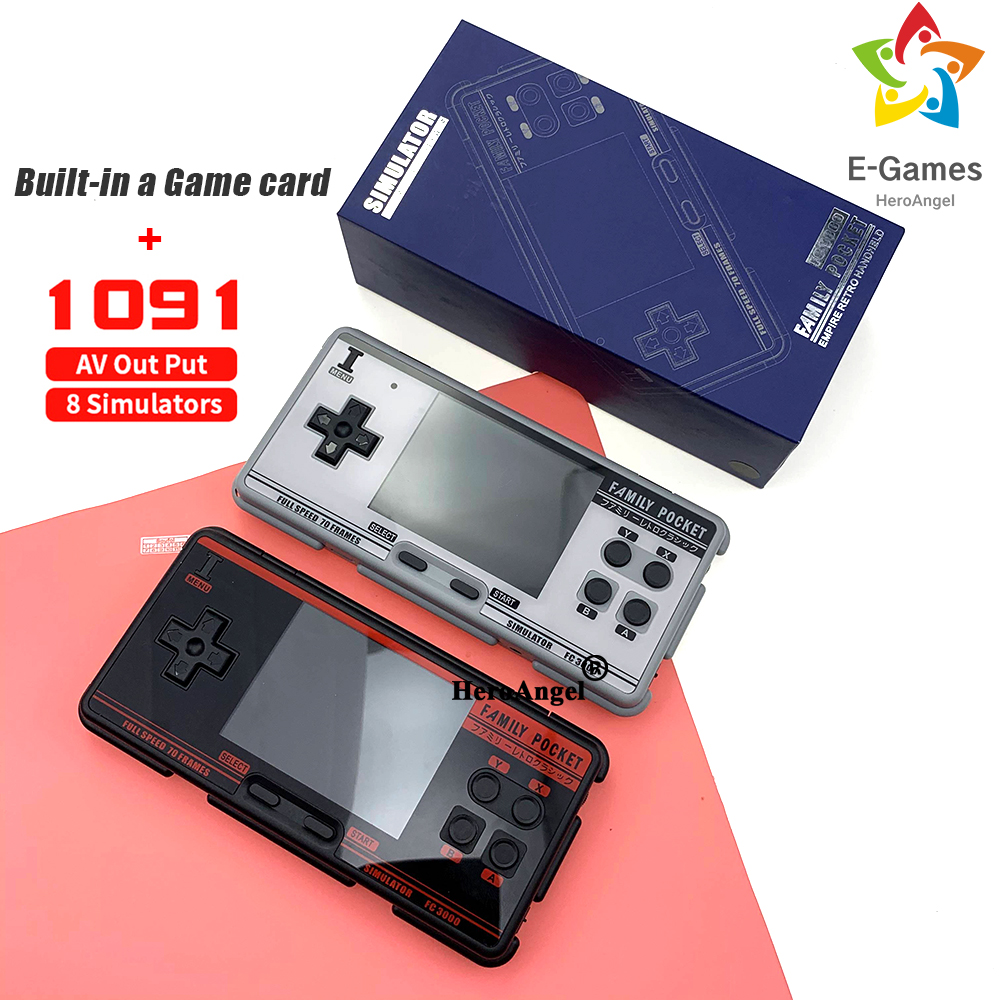 FC3000 handheld game console 8 simulator Black and Grey children s color screen game console built in 1091 Games