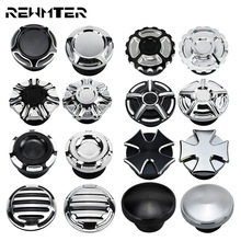 Motorcycle Black Chrome Fuel Gas Oil Cap Fuel Gas Tank Cover For Harley Sportster 883 1200 XL XR Iron Dyna Touring Softail