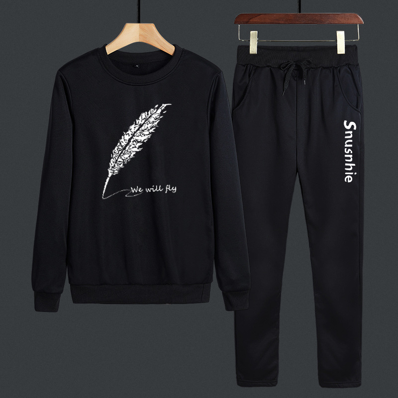 2019 New Style MEN'S Long Sleeve Sports Set Men's Autumn Two-Piece Set MEN'S Casual Suit Jogging Suits Two Set