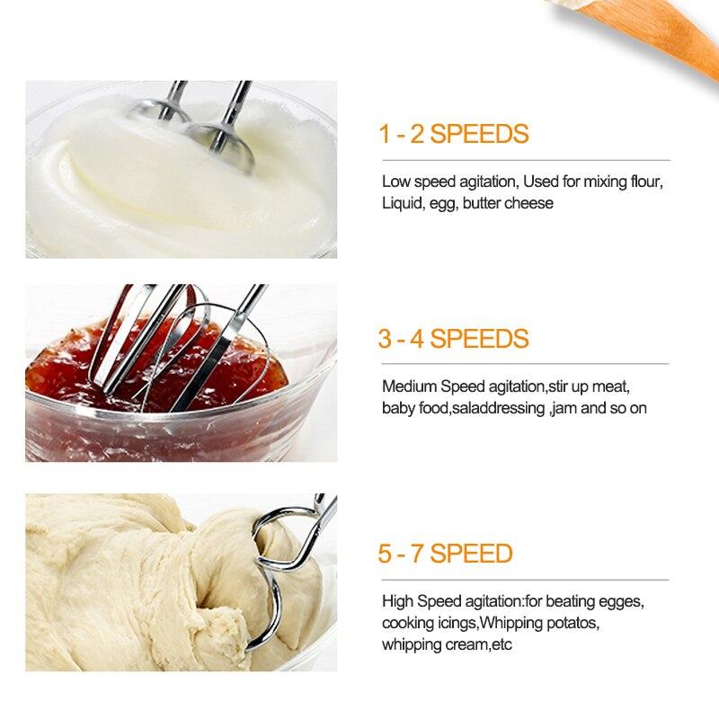 7 Speed Control Hand Mini Mixer Food Blender Multifunctional Food Processor Kitchen Mini Electric Manual Cooking Tools 5