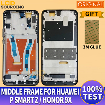 Original Middle Frame For Huawei P Smart Z Front Frame Housing Bezel For Honor 9x Middle Frame Replace For Honor 9x Global / RUS