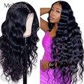Бразильские натуральные волосы Melodie 13X4, парики из человеческих волос на сетке спереди, плотность 180, 28, 30 дюймов, парик на сетке спереди, волни...