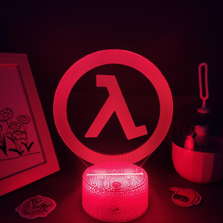 H1a3a05351884404689064148d11582e1Z Luminária Half-life valve da lâmpada fps jogo marca logotipo 3d led rgb luzes da noite presente de aniversário colorido para o amigo lava lâmpada quarto cama mesa decoração