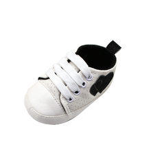 2020 Baby First Walkers Newborn Baby Boy Girl Canvas Shoes Infant Sneaker Toddler Prewalker Bandage Solid Trainer 0-18M(China)