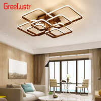 Lámpara de techo de atenuación Led Acylic moderna, plafón cuadrado LED, accesorios de iluminación, plafón con mando a distancia para decoración del hogar