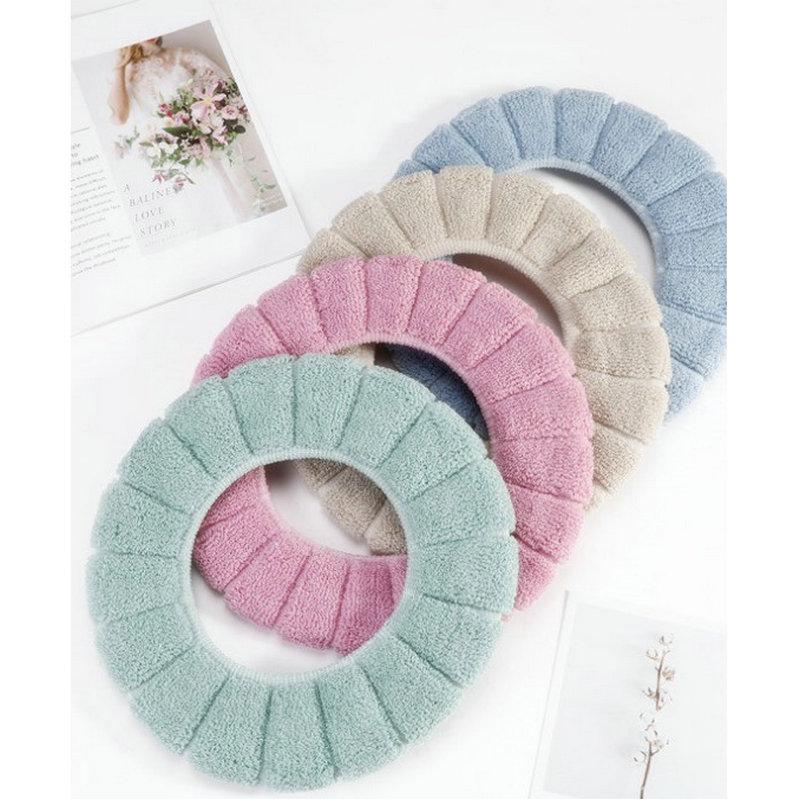 Bathroom Toilet Seat Closestool Washable Soft Warmer Mat Pad Cushion Oilet Seat Bidet
