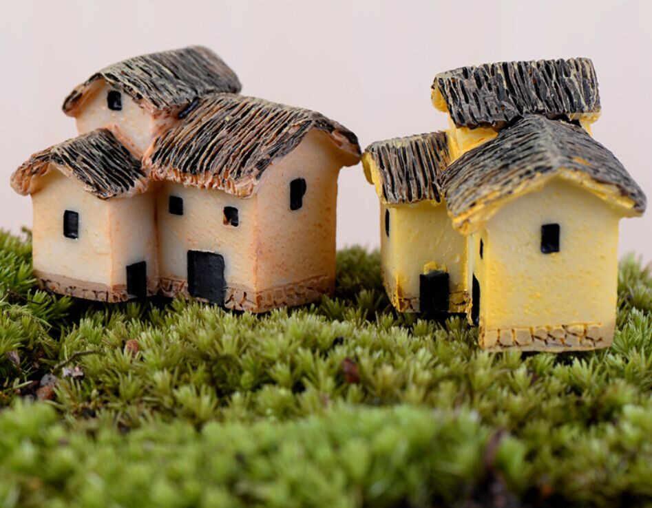Anak-anak Dewasa Rumah Boneka Mini Cottage Kecil Rumah Peri Taman Miniatur DIY Ornamen Dekorasi Kerajinan Patung Mikro Lanskap