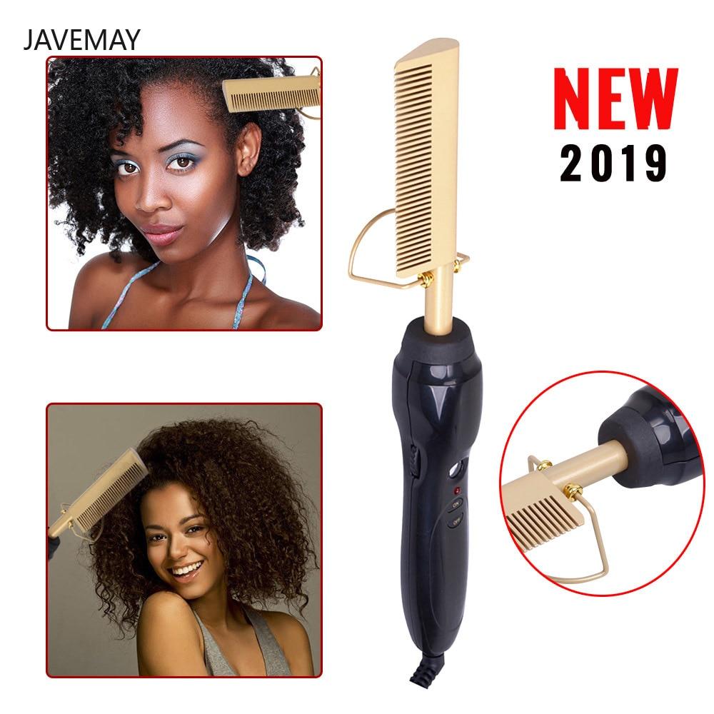 Straightener Electric Comb Wand Hair Curling Irons Hair Curler Comb Hot Straightening Electric Comb Titanium Alloy Straightener