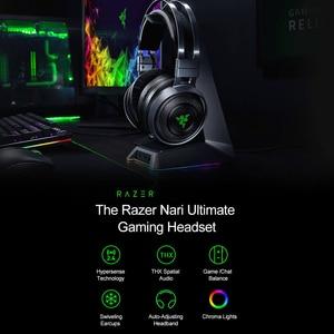 Image 3 - Razer Nari Ultimate Gaming ชุดหูฟังหูฟังไร้สายหูฟัง 7.1 หูฟังเสียงรอบทิศทาง THX เชิงพื้นที่เสียง Haptic ข้อเสนอแนะ