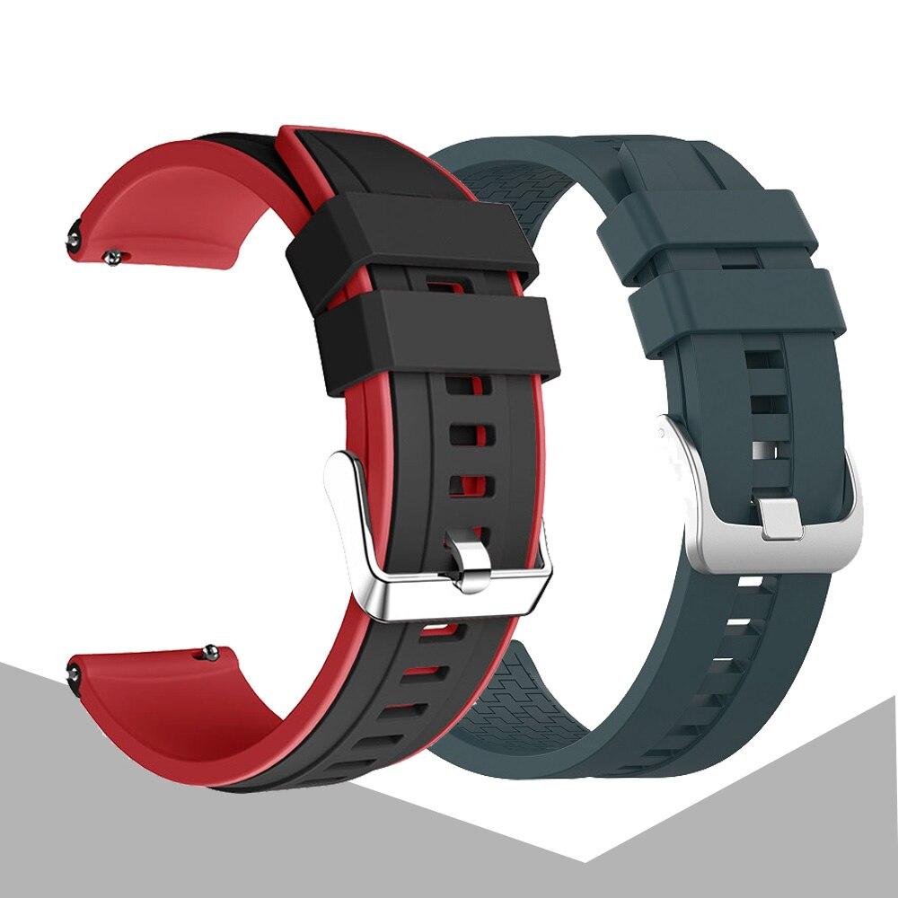 Dla gtr2 pasek silikonowy Watchband dla Xiaomi Huami Amazfit Gtr 2/47mm/Stratos 3 2 bransoletka opaska sportowa 22mm wymiana Correa
