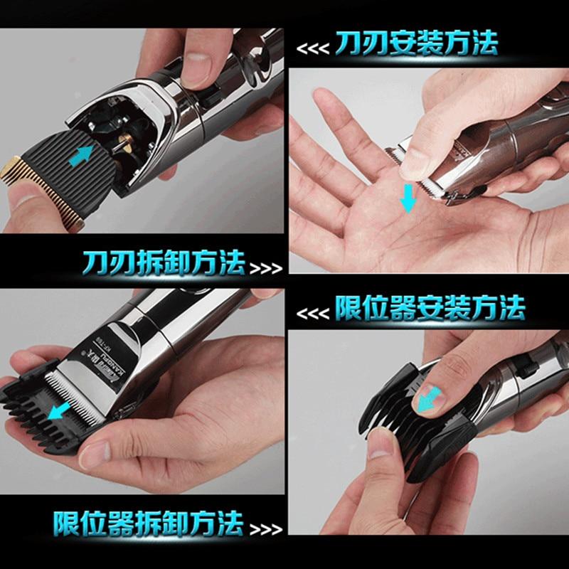 KF T69 Plug In double usage rasoir électrique tondeuses ensemble électrique tondeuses à cheveux ciseaux à cheveux outils de coiffure avec tondeuse - 3
