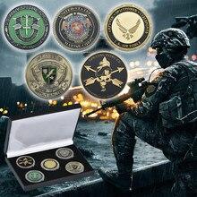 Moneda de las Fuerzas Especiales especiales motivadas, moneda de lujo chapado puro oro del Ejército de los Estados Unidos, moneda de desafío