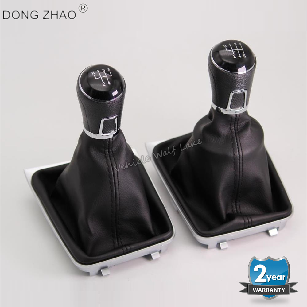For VW Golf 7 A7 MK7 GTI GTD 2013 2014 2015 2016 2017 2018 Car 5 /6  Speed Gear Stick Level Shift Knob With Leather Boot