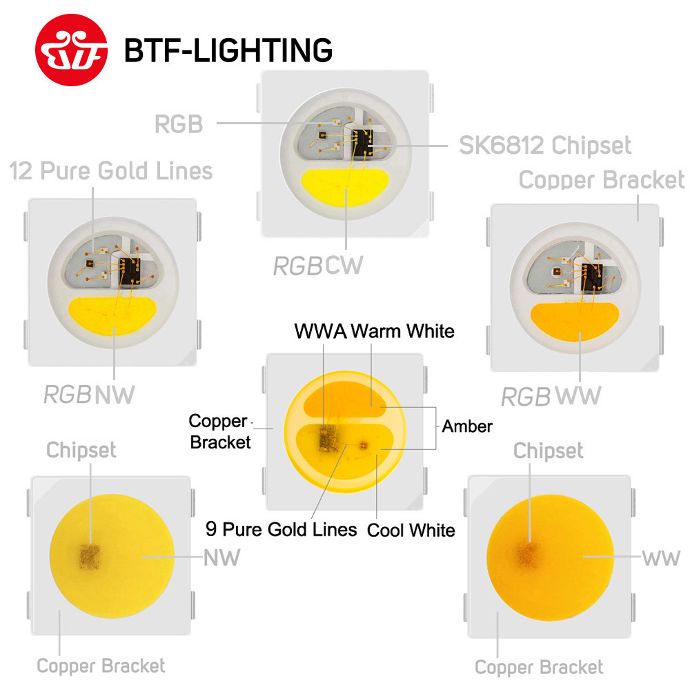 SK6812 RGBW similar ws2812b 4 in 1 1m 4m 5m 30 60 144 leds pixels m SK6812 RGBW (similar ws2812b) 4 in 1 1m/4m/5m 30/60/144 leds/pixels/m individual addressable led strip wwa ww nw IP30/65/67 DC5V