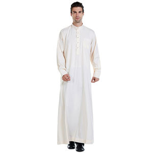 Image 3 - Hommes vêtements Robe à manches longues saoudien arabe Thobe Jubba Thoub homme Daffah caftan moyen orient islamique Thawb Jubba Thobe Robe musulmane