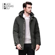 Blackleopardwolf 2019 גברים של בגדי חורף פרווה להסרה חורף מעיל גברים למטה מעיל גברים של מעילי מעילי BL 989