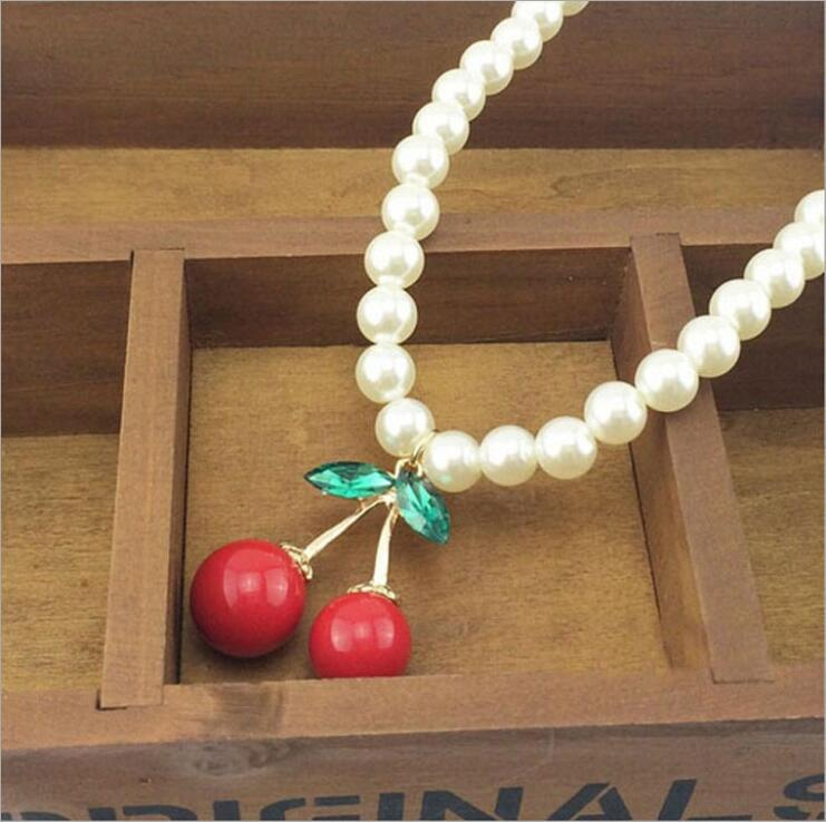 Simulated-pearl Santa Claus Jewelry Crystal Chokers Women Necklace Pendant