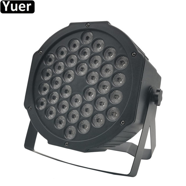 NEW LED Flat Par 36x3W Red Green Blue Color Lighting With DMX512 For Disco DJ KTV Projector Machine Party Stage Decoration Lamp
