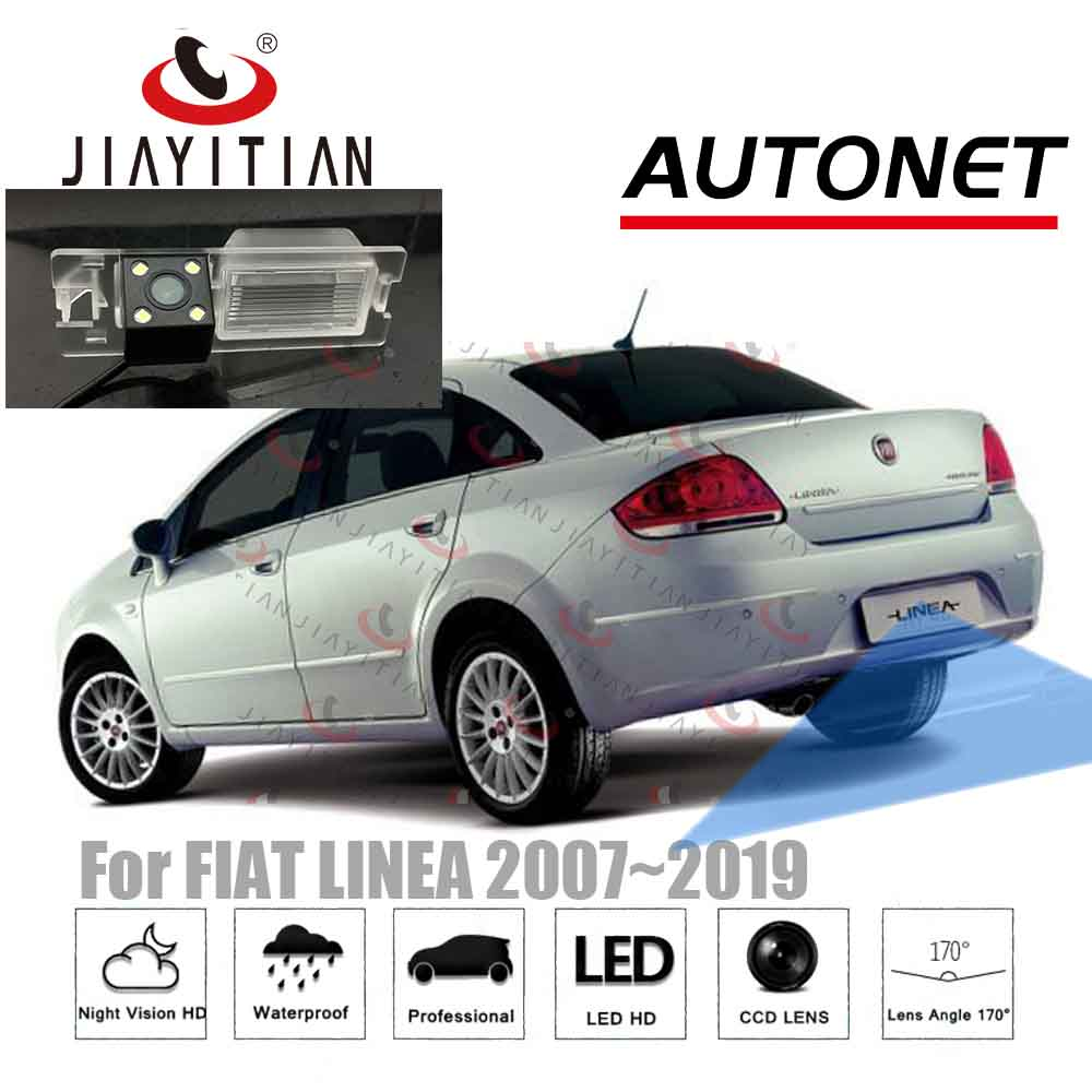 JiaYiTian Rear View Camera For Fiat Linea 4D Sedan 2007 2008 2009 2010~2014/CCD Night Vision Reverse Camera License Plate Camera