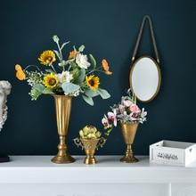 Florero de copa Vintage de estilo europeo, vajilla de flores, mesa de salón, dormitorio, decoración creativa de floreros