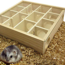 Pet Hamster Wooden Mazes Tunnel Gerbil Rat Mouse Mice Small Animal Play Toys _WK