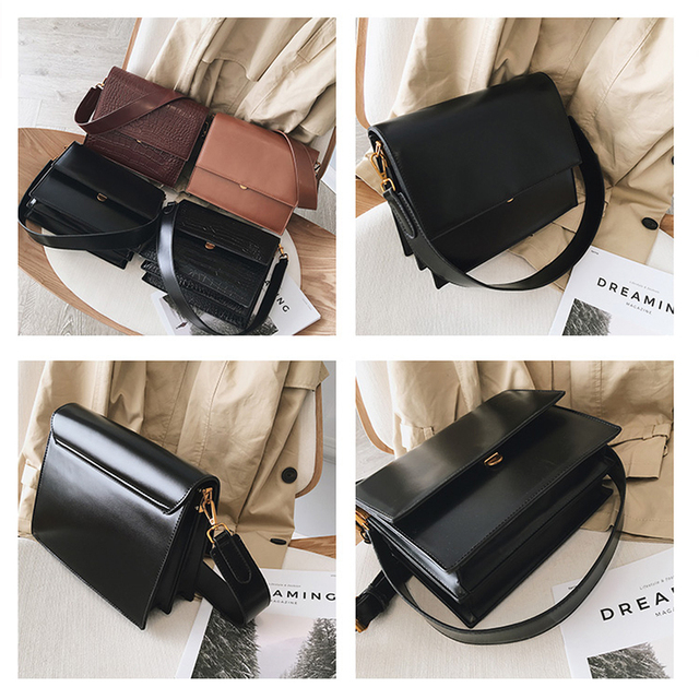 Fashion Crocodile Chains Women's Designer Handbags High Quality PU Leather Women Totes Ladies Alligator Shoulder Crossbody Bags 4
