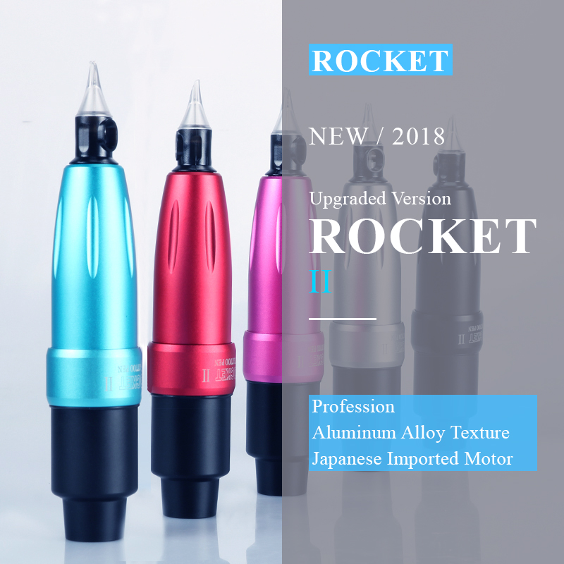 New Rocket II Motor Tattoo Pen Motor Tattoo Machine Rotary Tattoo Machine Space Aluminum Cartridge Tattoo Gun Equipment