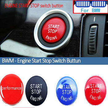 M Performance For BMW E60 E90 E91 E92 E93 E39 E84 E83 E53 E70 E71 E89 E46 E87 Z4 X1 X5 Car Engine Start Stop Switch Button Cover image