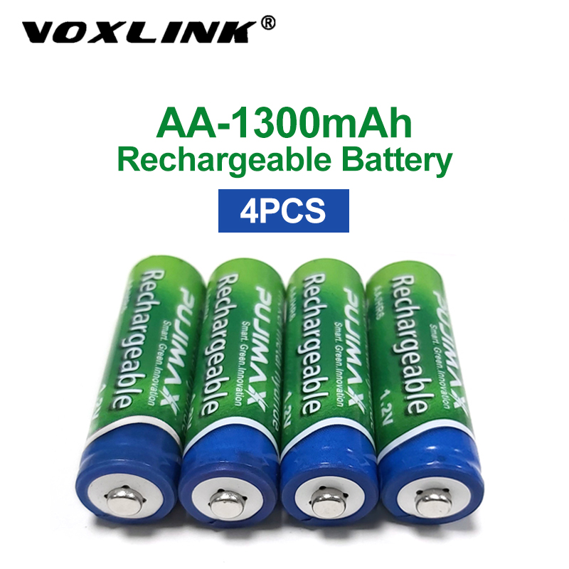 VOXLINK <font><b>AA</b></font> <font><b>Battery</b></font> <font><b>1.2V</b></font> <font><b>1300mAh</b></font> 4PCS <font><b>rechargeable</b></font> <font><b>battery</b></font> pre-charged recharge ni mh <font><b>rechargeable</b></font> <font><b>battery</b></font> For camera microphone image