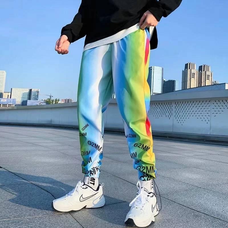 Men Casual Trousers Cool Autumn Mens Sportswear Loose Sweatpants Gyms Hip Hop Streetwear Male Pencil Pants Funny Korean Pants