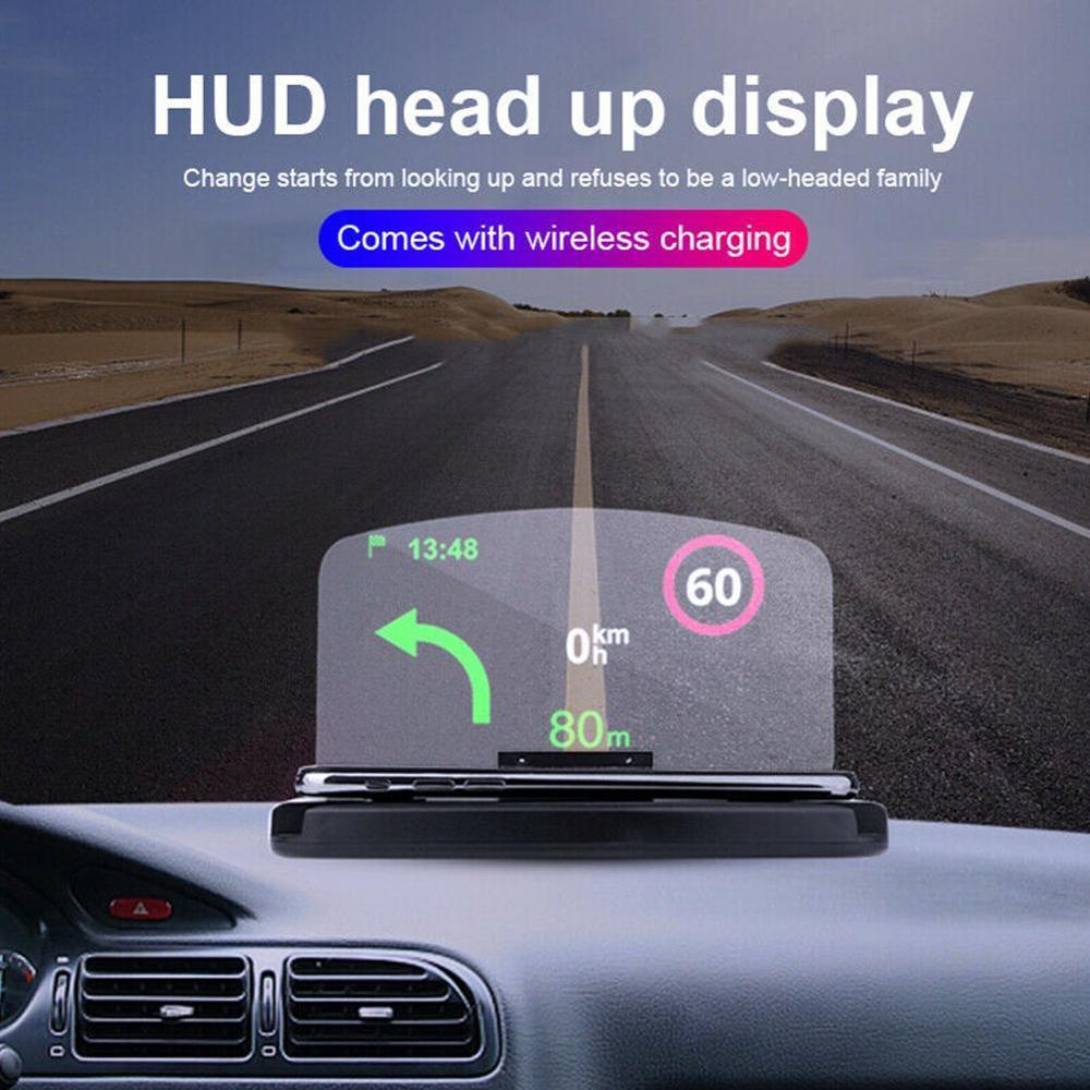 New Car 6.5 Inch HUD Screen Head Up Display Car Safety Auto GPS Navigation Mobile Phone Holder Projector High Definition Reflect