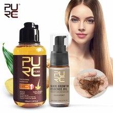 PURC Narutal Ginger Hair Growth Shampoo + Essence Oil Baldness Fast Help Strengthen Prevent Hair Loss Hair Treatment Care Set