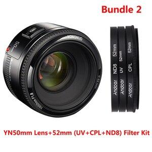 Image 3 - YONGNUO Lens YN50mm f1.8 YN EF 50mm f/1.8 AF Lens YN50 Aperture Auto Focus Lens for Canon EOS 60D 70D 5D2 5D3 600d DSLR Cameras
