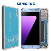 100% מקורי סופר AMOLED LCD החלפה עבור Samsung S7 קצה G935F G935A G9350 LCD Digitizer מסך מגע עם מסגרת מסך