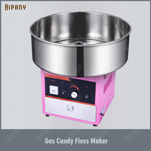 OT63 Gas Commercial Candy Floss Machine Stainless Steel Cotton Candy Floss Maker LPG Heavy Duty Temperature Control цены