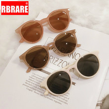 RBRARE Lovely Round Sunglasses Women Retro Jelly Color Glass