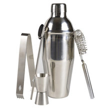 5 pezzi In Acciaio Inox Cocktail Shaker Set Shaker Martini Mixer Professionale Barista Bar, Utensili E Accessori Utensili Bar Kit di Strumenti Accessori(China)