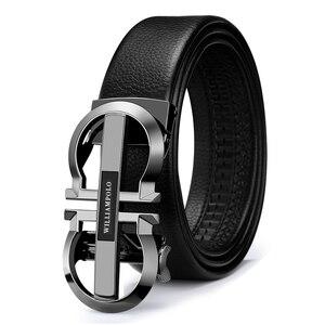 Image 5 - WILLIAMPOLO bracelet en cuir véritable homme, marque de luxe, marque de créateur, ceinture dorée PL18335 36P
