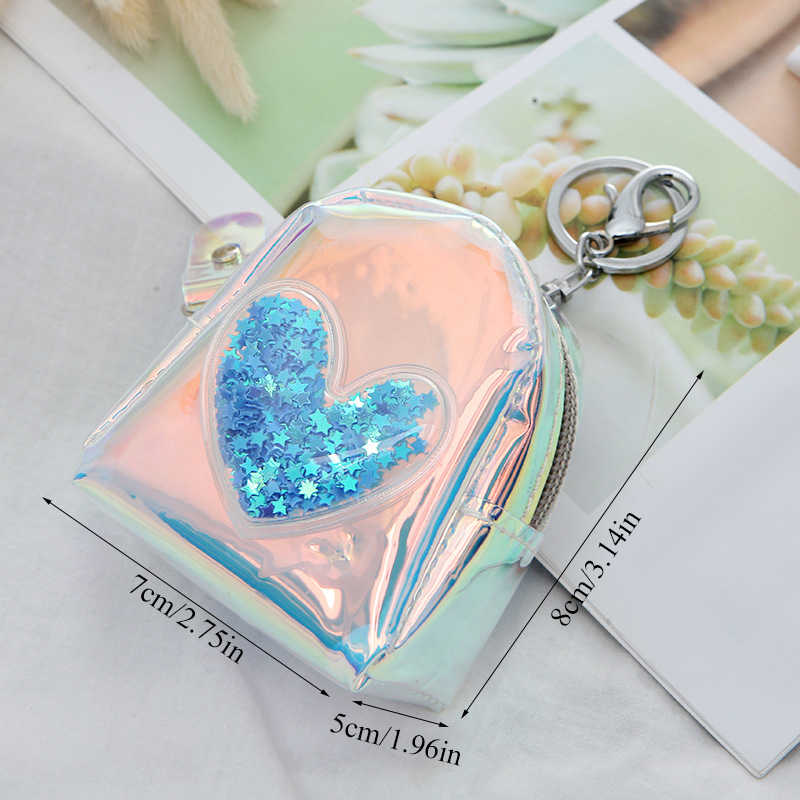 Fashion Laser Small coin purse Bag Flash Cute Star PVC woman's purse urses Girls Women Backpack Key Wallet coin wallet 2019