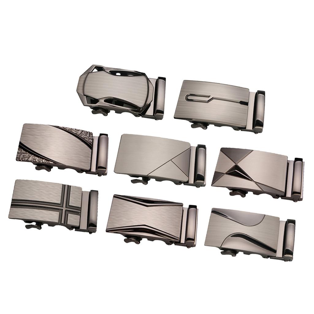Metal Automatic Slide Buckle Replacement Ratchet Belt Buckle Formal Business Belt Accessories For Men