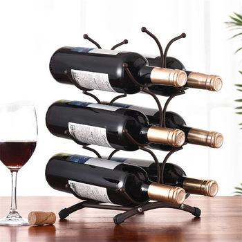 European style 6 Bottle Wine Rack Metal Freestanding Kitchen Storage Stand Wine Cabinet Grape Wine Shelf Display Bar european style resin wine rack