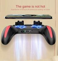 Pubg-juego para teléfono móvil, controlador sensible al fuego, botón de tecla con dos ventiladores de refrigeración, cargador de batería de 5000mAh, mando