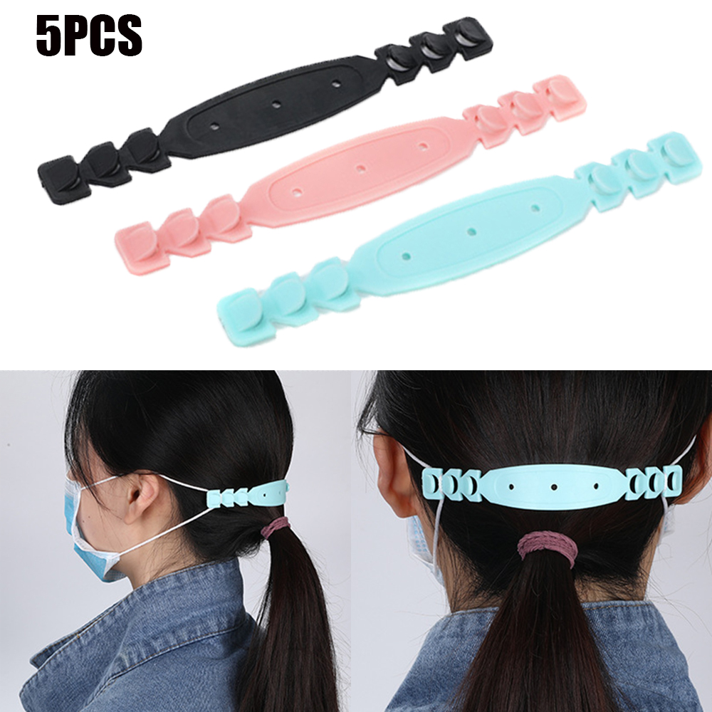 5Pcs Ear Hook Non-slip Fixed Buckle Adjustable Head-mounted Children's Mask Hanging Buckle Mask Rope
