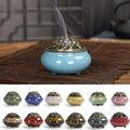 Lucky Home украшение для ладана черная глазурь диск керамическая курильница благовония горелка благовония сиденье для дома G
