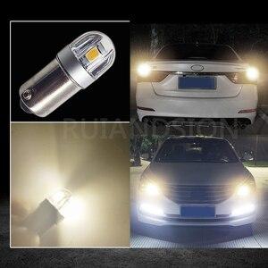 Image 5 - RUIANDSION 10X BA9S T4W 3030SMD רכב לוחית רישוי אור קריאת כיפת מנורת LED הנורה מכשיר ללא קוטב 6V 12V 200Lm 6000K 4300K